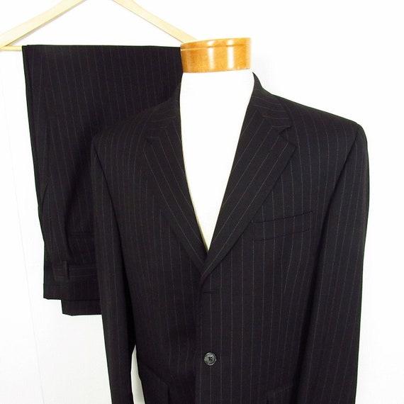 1990s Vintage Pinstripe Suit 42R 32.5x31.25 CHAPS