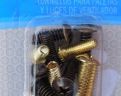 FAN Light and BLADE Screws WESTINGHOUSE assorted sizes and finishes Brass and Antique Brass 77016 1B3B