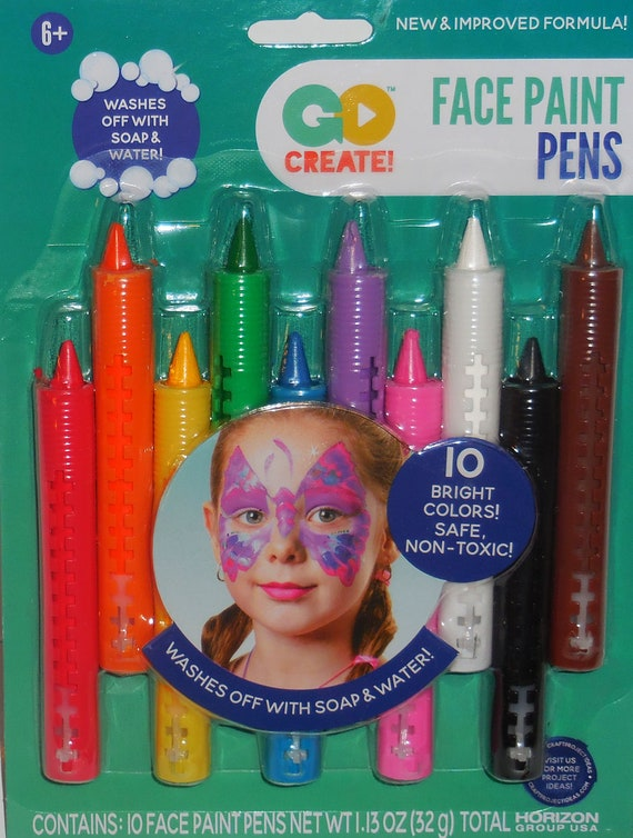 Face Paint Pens New And Improved Washable 10 Colors Safe And Etsy