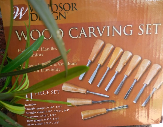 Wood Carving Set 11 Piece 62673 Windsor Design Hardwood Handles Hardened Chrome Vanadium Hobbyist Woodworking Specialist A Must Have 8a5b