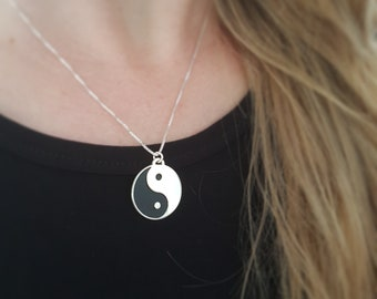 bfc3aec4b Sterling Silver Yin Yang Necklace