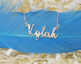 Custom Tiny Name Necklace Baby Girl Name Necklace Dainty Name Charm Kylah baby shower gift gifts for sister gifts for teenage girls