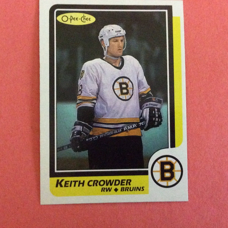 O-Pee-Chee #130 Hockey 198687 Keith Crowder