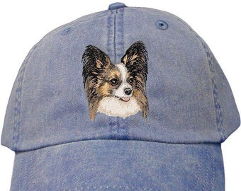 da9d1d02 Papillon Custom Pet Embroidered Hat Dog Lover Gift Dad Hat Gift for Her  Best Friend Gift