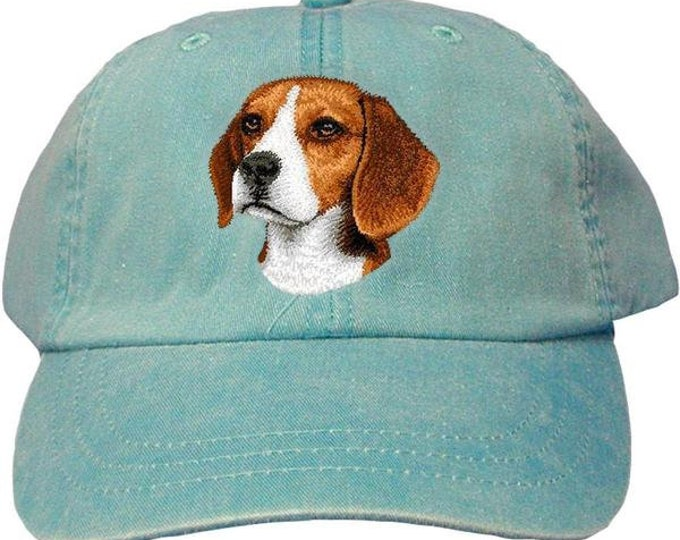 Featured listing image: Beagle Custom Pet Embroidered Hat  Dog Lover Gift Dad Hat Gift for Her Best Friend Gift