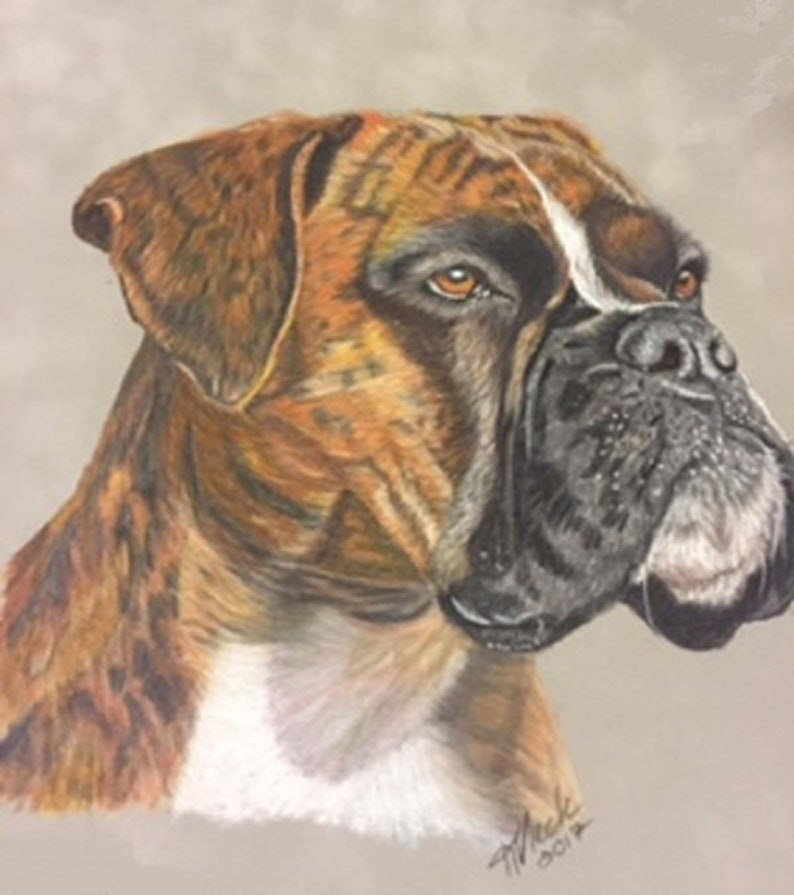 Pet Portraits in Colored Pencils Dog Mama Gift  Personalized Art  Lifelike Pet Animal Dog Cat Art  Pet Lover Gift