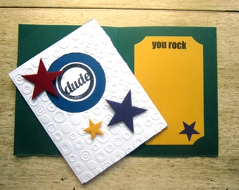 Dude You Rock Greeting Card