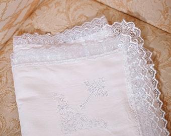 Baptism gift for godchild, gift Christening gift, Godmother custom baby gift Christening blanket white baby blanket for baby Baptism blanket