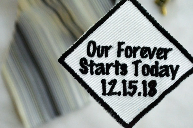 Personalised,Our forever starts today Wedding tie patch,Grooms tie patch