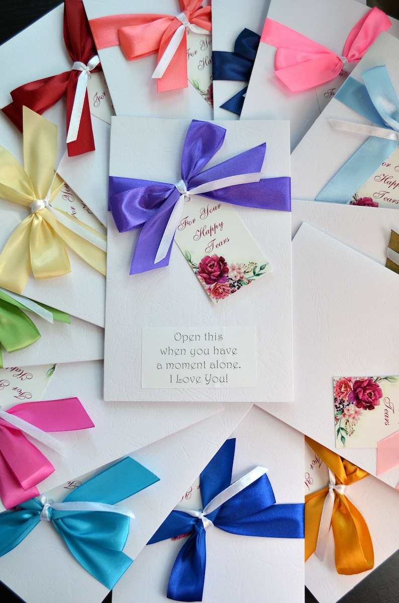 for your happy tears gift wrap for handkerchief wedding gift image 0