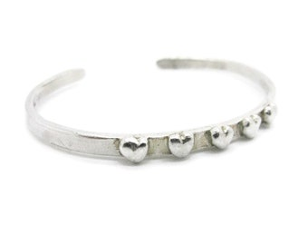 Heart cuff bracelet, Valentine's Day gift, heart jewelry, heart, heart bracelet, heart cuff, sterling silver, cuffs, bracelet, love,
