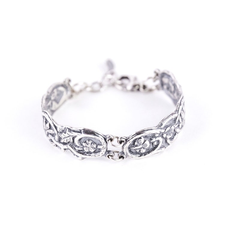 Mothers Day gift Silver bracelet sterling silver bangle image 0