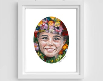 The May Queen Painting, Midsommar, Folk Art, Print