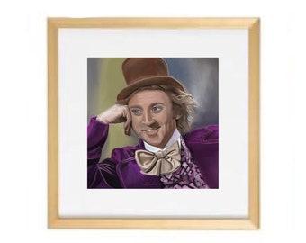 Willy Wonka Meme Painting, Condescending Creepy Wonka, Art Print