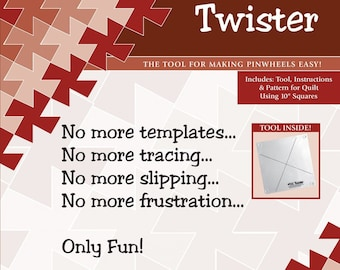 """Twister Pinwheel Template - 10"""" Square Compatible"""