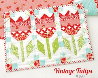 MINI VINTAGE TULIPS Quilt Pattern by Camille Roskelley for Thimble Blossoms