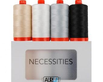 Mako 50WT Cotton Thread   Necessities Collection   Aurifil