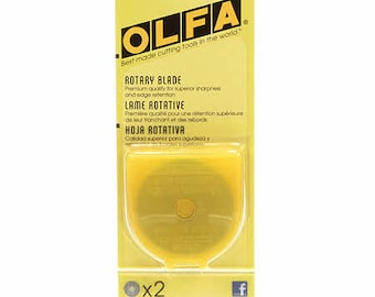 Olfa 45mm Replacement Rotary Blade - 2pk