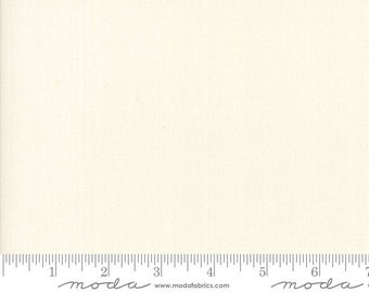 Bella Solids in PORCELAIN by Moda   Color: 9900 182   1/2 yd Increments, Cut Continuously or Fat Quarter