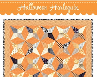 Halloween Harlequin Quilt Pattern by Joanna Figueroa for Fig Tree Quilts