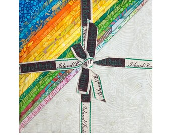 """Summer Fields Stack by Island Batiks -  10"""" Stack - Precut 10"""" x 10"""" Squares - 42 pieces"""