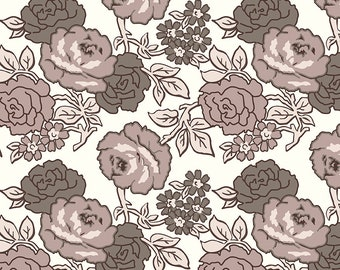 """108"""" FLEA MARKET by Lori Holt for Riley Blake -  WB10232 Roses Wide Back Neutral - 1/2 yd Increments"""