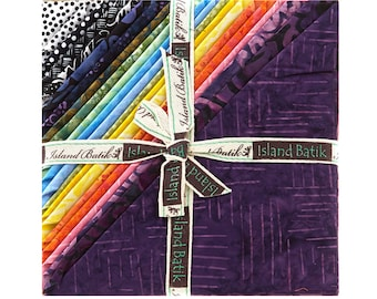 """Bliss Stack by Island Batiks -  10"""" Stack - Precut 10"""" x 10"""" Squares - 42 pieces"""