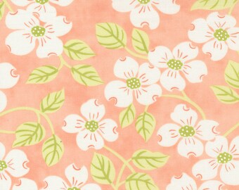 Strawberries & Rhubarb by Fig Tree for Moda -  20400-13 Main Apricot - 1/2 yd Increments, Cut Continuously OR Fat Quarter