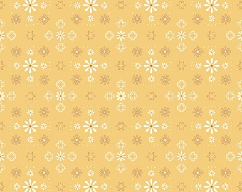 """108"""" BEE BACKINGS and BORDERS by Lori Holt for Riley Blake -  WB6420 Bandana - Honey - Wide Back - 1 yd Increments"""