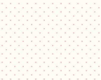 BEE BACKGROUNDS by Lori Holt for Riley Blake -  C6381 Cross Stitch Cayenne - 1/2 yd Increments, Cut Continuously or Fat Quarter