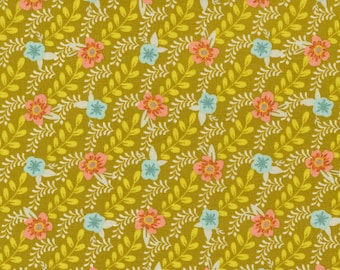 Songbook by Fancy That Design House for Moda   45524-23 Trellis Climb in Dijon   Continuous 1/2 yd Increments OR Fat Quarter