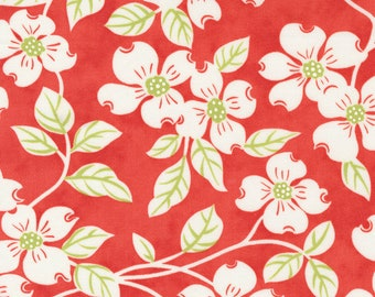 Strawberries & Rhubarb by Fig Tree for Moda -  20400-11 Main Strawberry - 1/2 yd Increments, Cut Continuously OR Fat Quarter