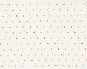 Strawberries & Rhubarb by Fig Tree for Moda -  20407-18 Eyelet Crisp Linen - 1/2 yd Increments, Cut Continuously OR Fat Quarter