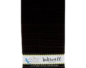 """Inkwell Strips by Island Batiks -  2.5"""" WOF Fabric Strips - 40 pieces"""