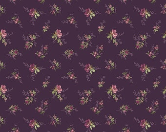 ANNE of GREEN GABLES by Riley Blake -  C10602 Bouquet - Eggplant - 1/2 yd Increments or Fat Quarters, Cut Continuously