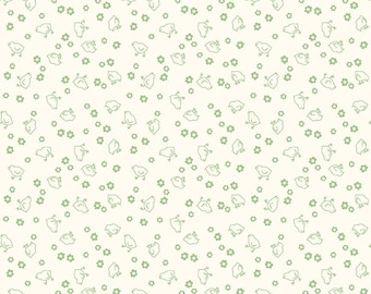 """108"""" BEE BACKINGS and BORDERS by Lori Holt for Riley Blake -  WB6423 Chick - Green - Wideback - 1 yd Increments"""