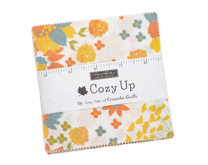 """Cozy Up by Corey Yoder for Moda -  5"""" Charm Pack - Precut 5"""" x 5"""" Squares - 42 pieces"""