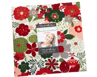 """Hustle and Bustle by BasicGrey for Moda -  10"""" Layer Cake - Precut 10"""" x 10"""" Squares - 42 pieces"""
