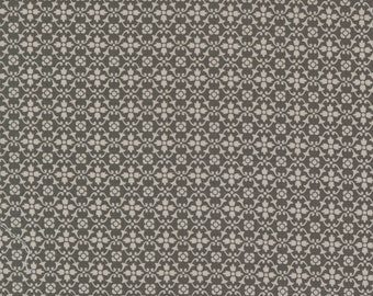 Pumpkins & Blossoms by Fig Tree for Moda -  20426-17 Florence Charcoal - 1/2 yd Increments, Cut Continuously OR Fat Quarter