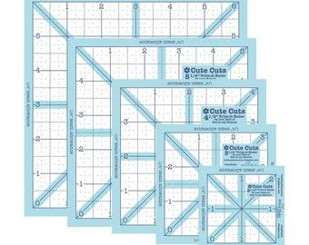 "Trim-It Square Ruler Set - 2.5"", 3.5"", 4.5"", 5.5"" & 6.5"" - Lori Holt for Riley Blake"
