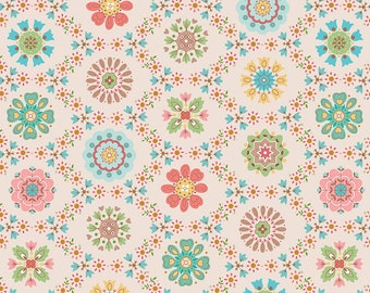 GRANNY CHIC by Lori Holt for Riley Blake -  C8510 Appliqué - Multi - 1/2 yd Increments or Fat Quarters, Cut Continuously