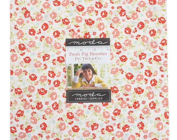 """FRESH FIG Favorites by Fig Tree & Co. for Moda -  10"""" Layer Cake - Precut 10"""" x 10"""" Squares - 42 pieces"""