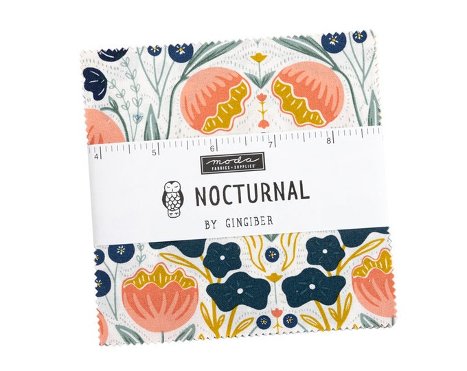"""NOCTURNAL by Gingiber for Moda -  5"""" Charm Pack - Precut 5"""" x 5"""" Squares - 42 pieces"""