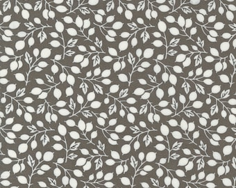 Pumpkins & Blossoms by Fig Tree for Moda -  20421-17 Rosehips Charcoal - 1/2 yd Increments, Cut Continuously OR Fat Quarter