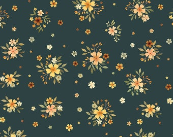 Little Fawn & Friends by Dear Stella -  DNS1911 Bouquets in Willow - 1/2 yd Increments or Fat Quarters, Cut Continuously