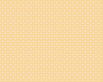 Bake Sale 2 by Lori Holt for Riley Blake -  C6987 Dot Yellow - 1/2 yd Increments, Cut Continuously OR Fat Quarter