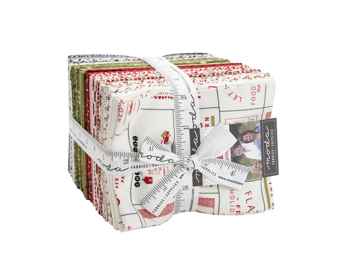 """Red Barn Christmas by Sweetwater for Moda -  Fat Quarter Bundle - 34 pieces - 18"""" x 21"""" cuts"""