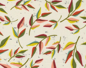 Songbook by Fancy That Design House for Moda   45523-11 Leaf Dream Floral Branch in Dove Wing   Continuous 1/2 yd Increments OR Fat Quarter