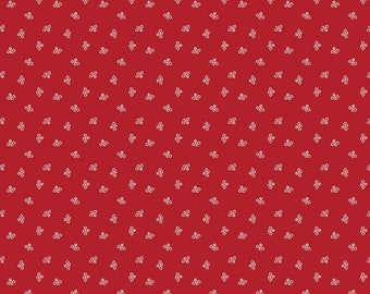 PRIM by Lori Holt for Riley Blake -  C9691 Blossom - Barn Red - 1/2 yd Increments or Fat Quarters, Cut Continuously