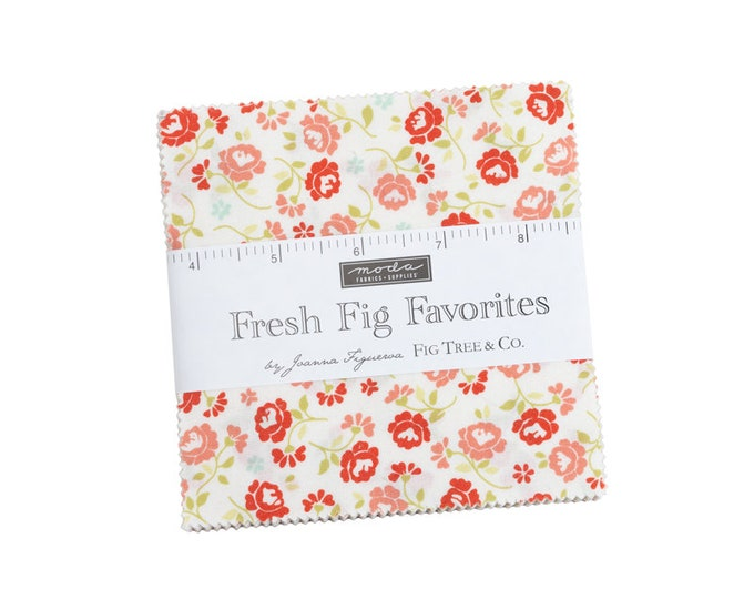 """FRESH FIG Favorites by Fig Tree Quilts & Co. for Moda -  5"""" Charm Pack - Precut 5"""" x 5"""" Squares - 42 pieces"""